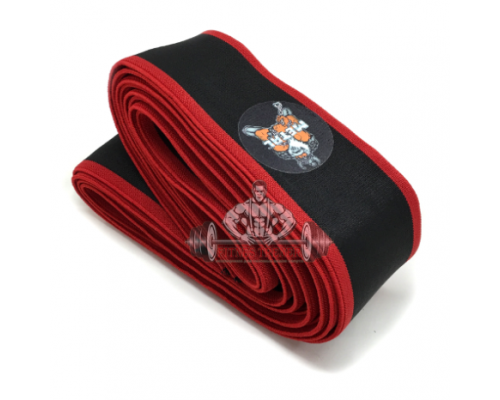 METAL Black'n Red Knee Wraps
