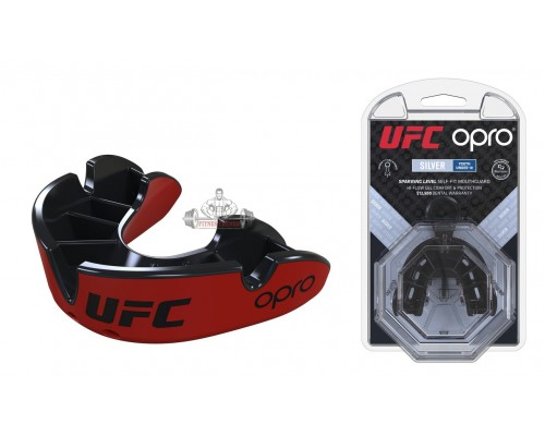 Капа OPRO Junior Silver UFC Hologram Red/Black (art. 002265001)