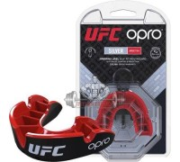 Капа OPRO Silver UFC Hologram Black/Red (art. 002259002)