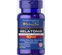 Витамины Puritans Pride Melatonin 10 mg Quick Dissolve 45 таб