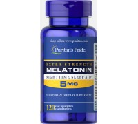 Витамины Puritans Pride Melatonin Extra Strength 5 mg 120 таб