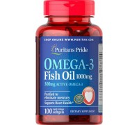 Витамины Puritans Pride Omega-3 Fish Oil 1000 mg 100 caps