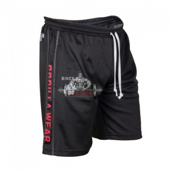 Шорты Functional Mesh Shorts Black/Red оригинальные от Gorilla Wear